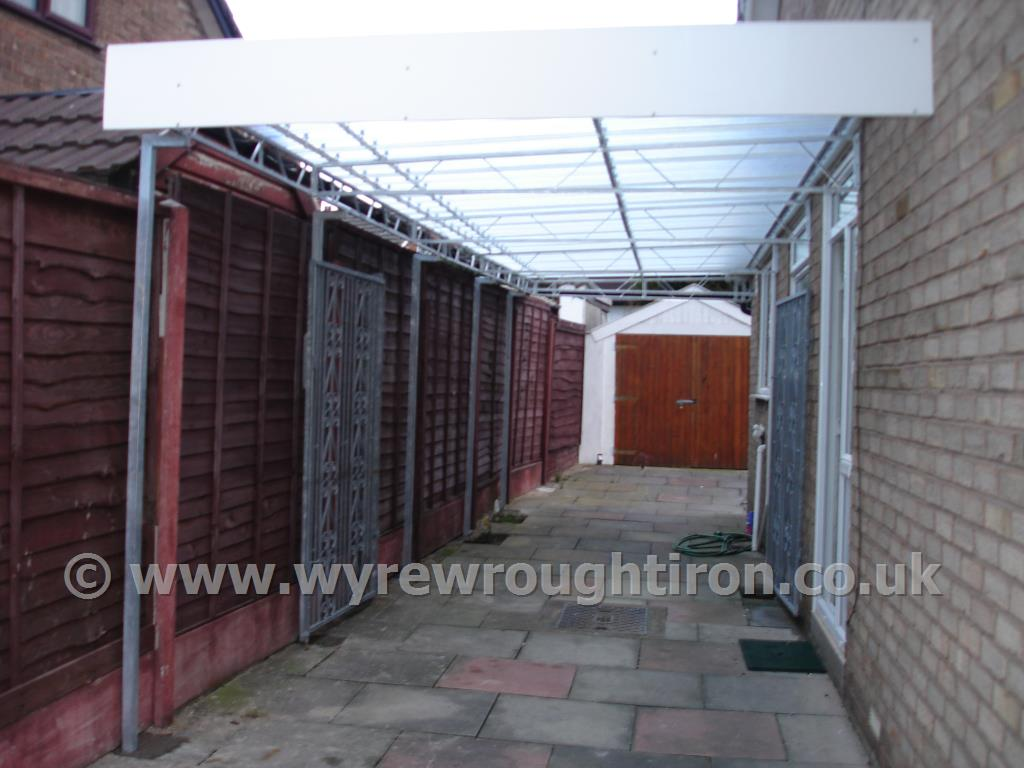 Carport in Fleetwood with space for two cars and providing sheltered access to the property.