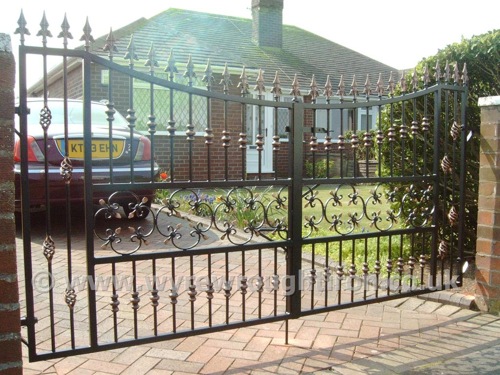Photo - Double gates with drop arches created for a customer in Rossall, Fleetwood