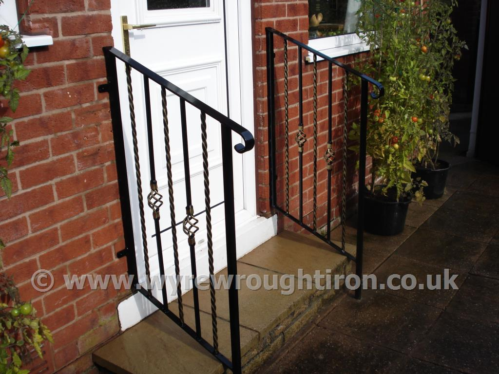 Wyre Wrought Iron Handrails Balustrades Ornamental Safety Disabled Marley Blackpool Fleetwood Thornton Lytham Poulton Le Fylde St Annes Garstang