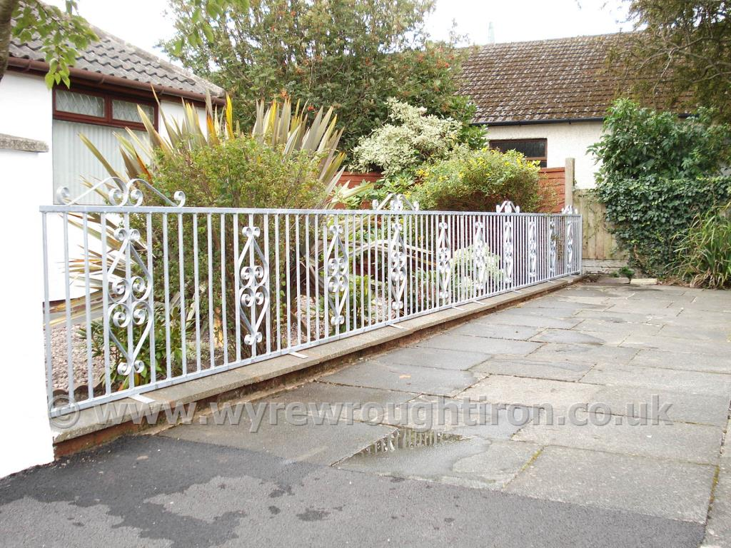 Scrollwork metal fence with galvanised finish for Thornton-Cleveleys customer.